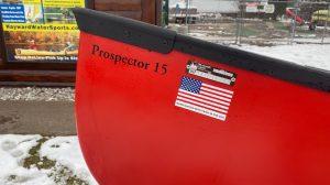 Wenonah Prospector 15 – T-Formex, Red, Black Trim, Curved Hung Web Seats – Blem