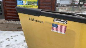 Wenonah Fisherman – Aramid Ultralight, Black Trim, Hung Web Seats – Blem