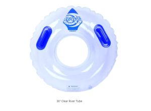 Inflatable – River Tube – Heavy Duty 36″ – Clear