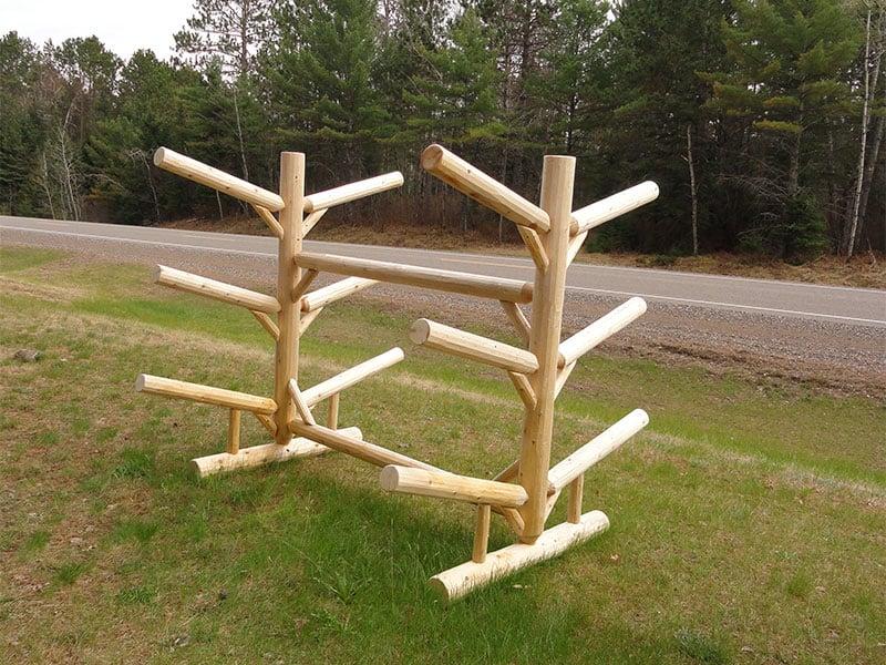 Rack Six Place Log Rack Hayward Outfitters. SaveEnlarge · Outdoor Kayak  Storage Rack Aiomp3sclub