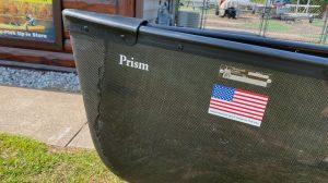 Wenonah Prism – Graphite Ultralight, Black Trim, Center Pedestal Seat – Blem