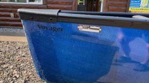 Wenonah Voyager – Fiberglass – Blue – Used – One of a Kind