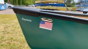 Wenonah Aurora – T-Formex, Green, Black Trim, Hung Web Seats – Blem