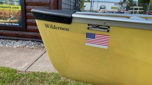 Wenonah Wilderness – Aramid Ultralight, Silver Trim, Center Adjustable Hung Web Seat – Blem
