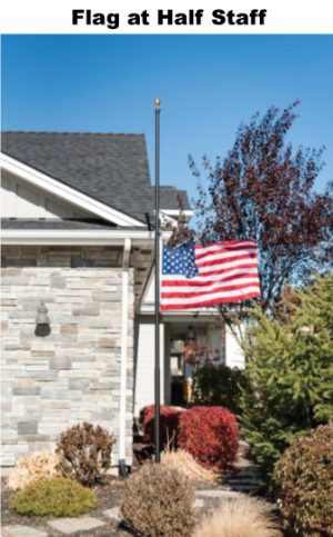 Flagpole Kit – 20′ Flag and Pole – Silver or Light Bronze