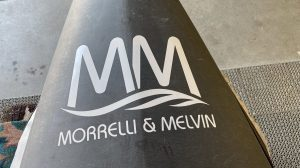 Morelli and Melvin All Graphite Stand Up Paddle Board – SUP with Bag – USED – 21 lbs!