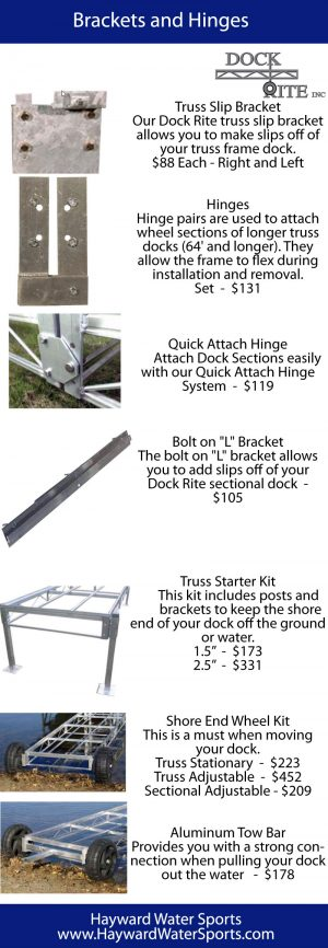 Accessories – Dock Rite – Brackets, Hinges and Kits