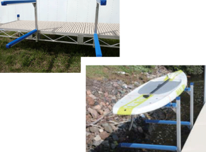 Docks – Accessories – Dock Mounted Kayak/SUP Rack – Sectional or Truss Style Docks