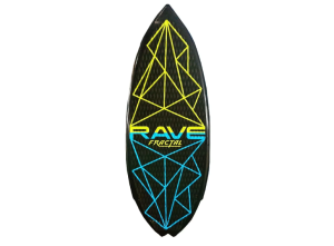Wakeboard – Fractal Wake Surfing Board – Black/Green/Blue