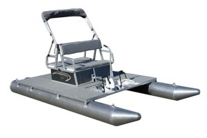 Paddle King – PK4400 4-Person Pedal Boat Package – Includes Seat Cushions, Canopy and Boot