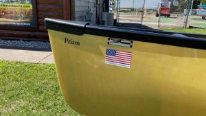 Wenonah Prism – Aramid Ultralight, Black Trim, Center Pedestal Seat, Footbrace – 1st Quality